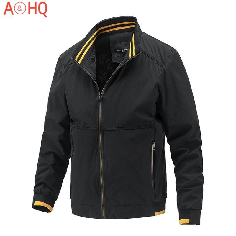 Jaqueta masculina casual casual outono carrinho colar roupa moda outwear homens windbreaker pelloweight casaco fino 2021