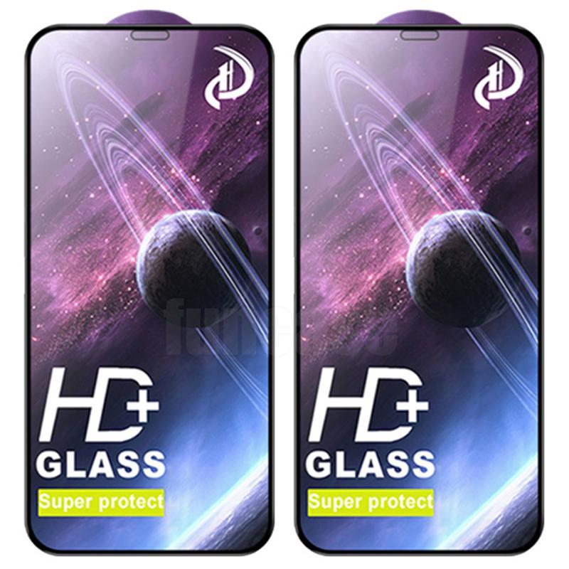 HD Harted Glass Super Protect Screen Protector Osłona Filmowa Eksplozja Zakrzywiona Pokrywa Premium Shield dla iPhone 13 Pro Max 12 mini 11 XS XR X 8 7 6 6S PLUS SE