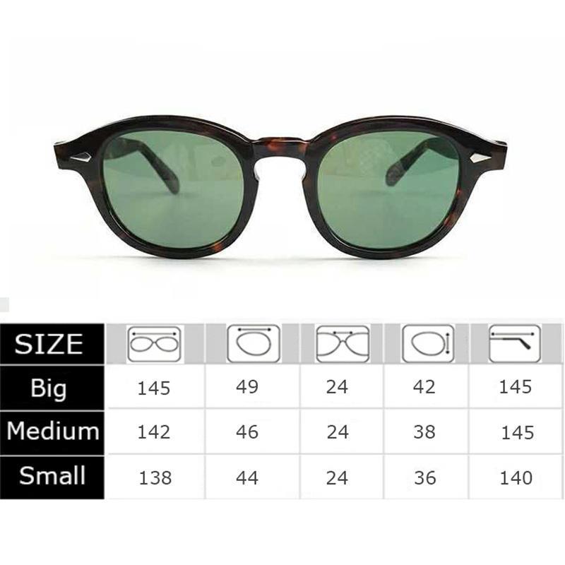 Hommes Johnny Depp Lunettes de soleil Polarisée Lens de luxe Marque Acétate Lunettes Cadre Lemtosh Sunglasses Femmes Top Qualité 002