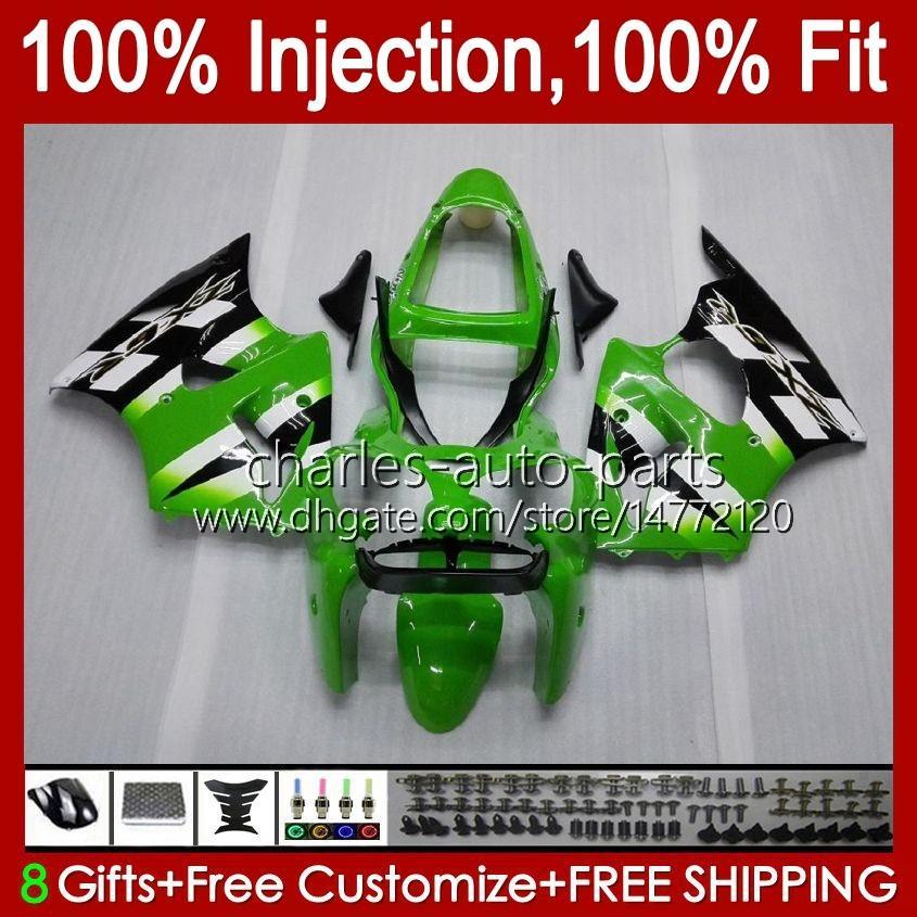 OEM Factory Green Body voor Kawasaki Ninja ZX 636 600CC ZX-600 ZX-6R ZX636 ZX6R 00 01 02 37HC.17 ZX 600 CC 6 R ZX 6R ZX600 Cowling ZX-636 2000 2001 2002 Injectie Mold Fairing
