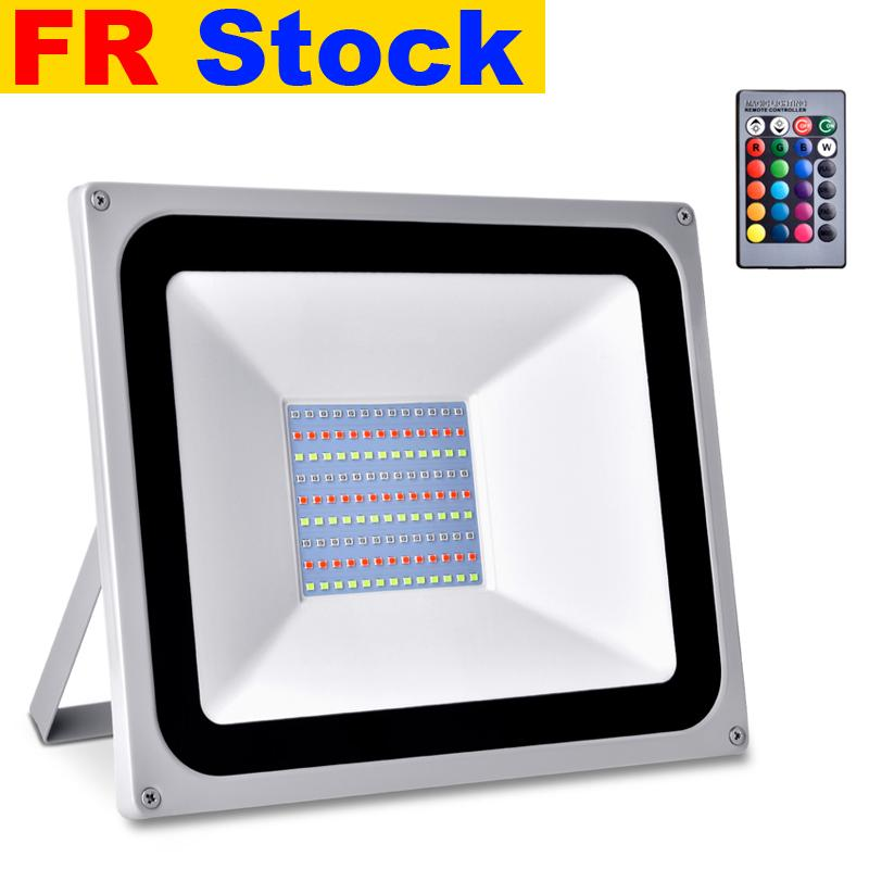 FR stock RGB LED Luces de inundación 30W 50W 100W reflectores AC110V / 220V IP65 Iluminación al aire libre Adecuado para boda, banquete, fiesta, escenario