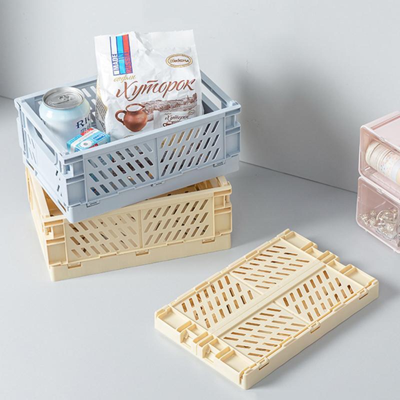Caixa colapsible caixa de armazenamento caixa plástica utilitário cosmético desktop organizador cesta banheiro casa usar caixas caixas caixas