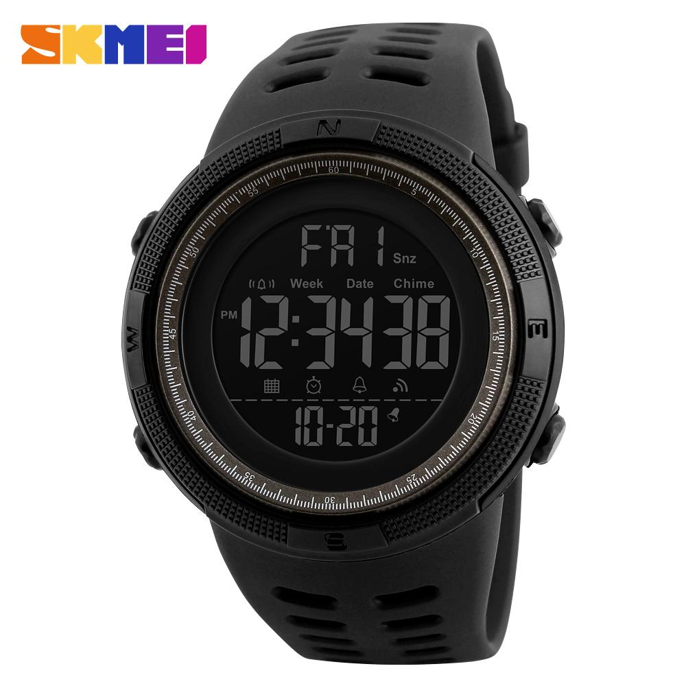 SKMEI Fashion Outdoor Sport Men Multifunction Watches Alarm Clock Chrono 5Bar Waterproof Digital Watch reloj hombre 1251