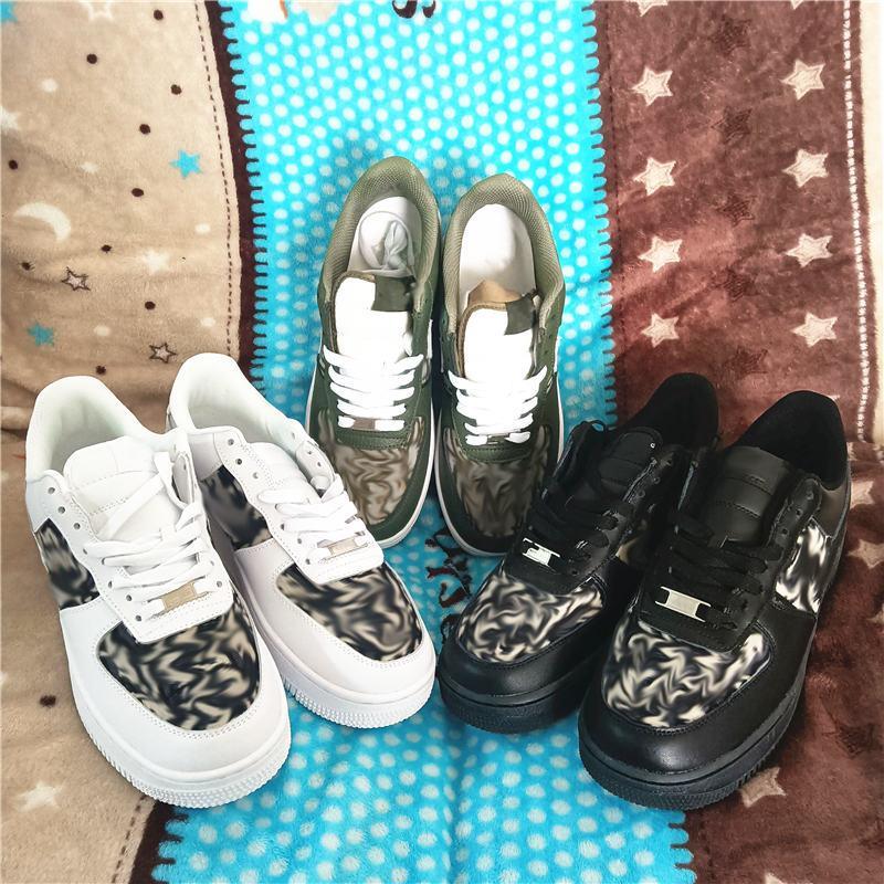 Beyaz x 1 Düşük MCA Koleji Mavi erkek Koşu Spor Moda Tasarımcı Sneakers Hava One Des Chaussures Off Ayakkabı HH