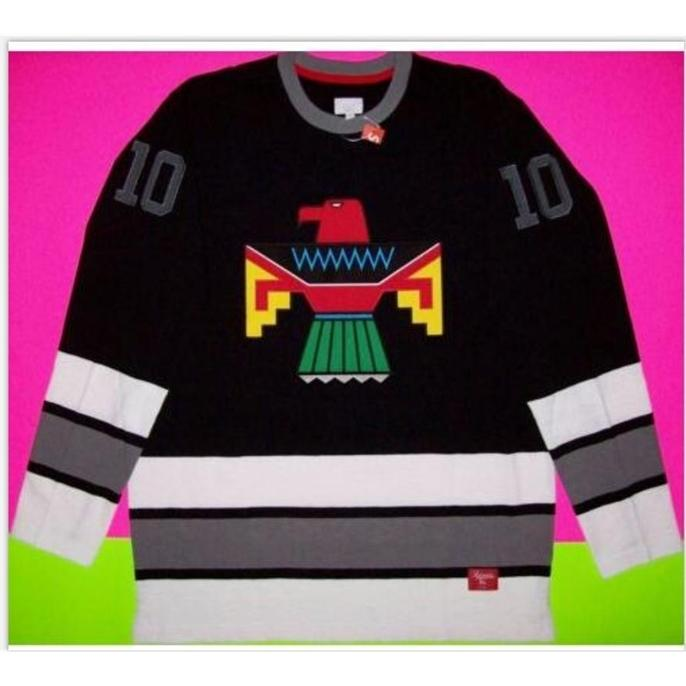 Custom Bay Youth women Vintage Customize T.PREME #10 THUNDERBIRD Pullover Hockey Jersey Size S-5XL or custom any name or number