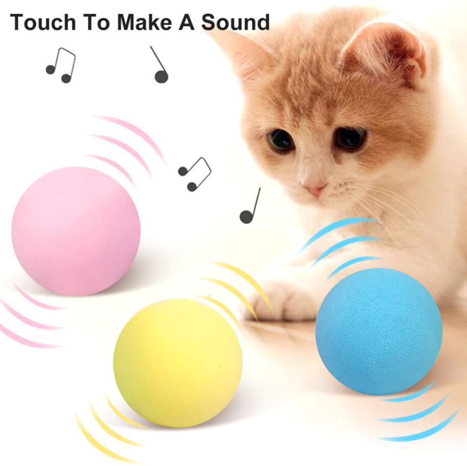 TOYS INTERACTIVE TOYS TOUCHO SMART TOUCH BALL CATNIP Suministros de entrenamiento para mascotas Simulación Squeaker Productos Juguete para gatos Regalo 3 colores