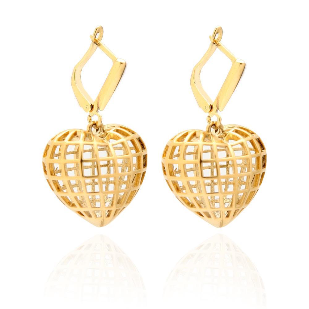 Varole New classic korean huggie hoop heart earrings minimalist custom drop earring wholesale women lady sets jewelry