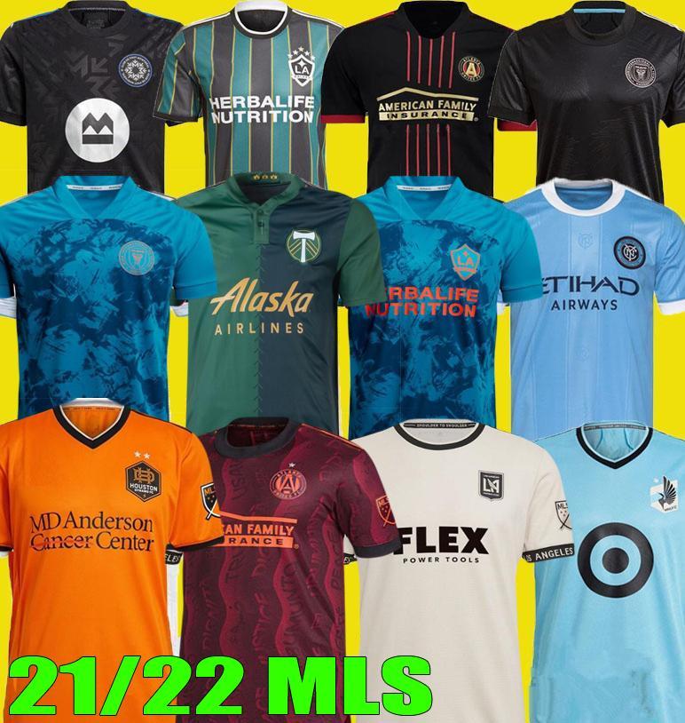 2021 2022 Los Montreal La Lafc Soccer Jerseys Galaxy Inter Minnesota ميامي 21 22 أتلانتا United York FC City Portland Football Shirts Jersey Player المشجعين النسخة MLS
