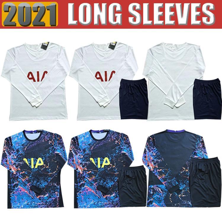 21 22 Dele Son Tottenham Bale Kane Soccer Jersey Hojbjerg Bergwijn Lo Celso Spurs 2021 2022 Lucas Camisetas de fútbol de manga larga para hombres Uniformes