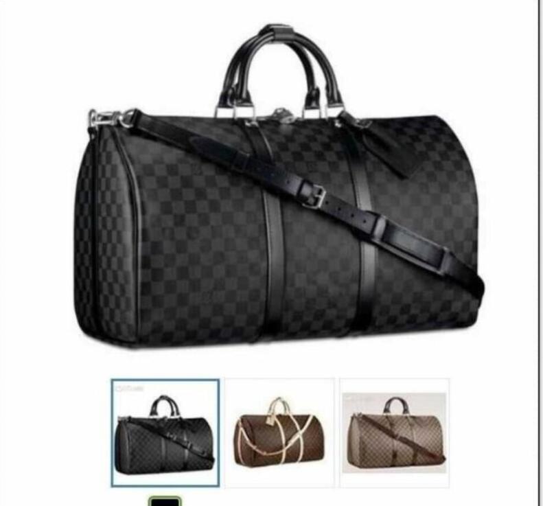 """1-5 Mulheres Couro Bagagem Saco Homem Bolsas Homens de Negócios Viagens Ombro Bags Top Duffel Bag Tote 55cm GG """"LV"""" Louis ... Vitton YSL ... Vutton"""