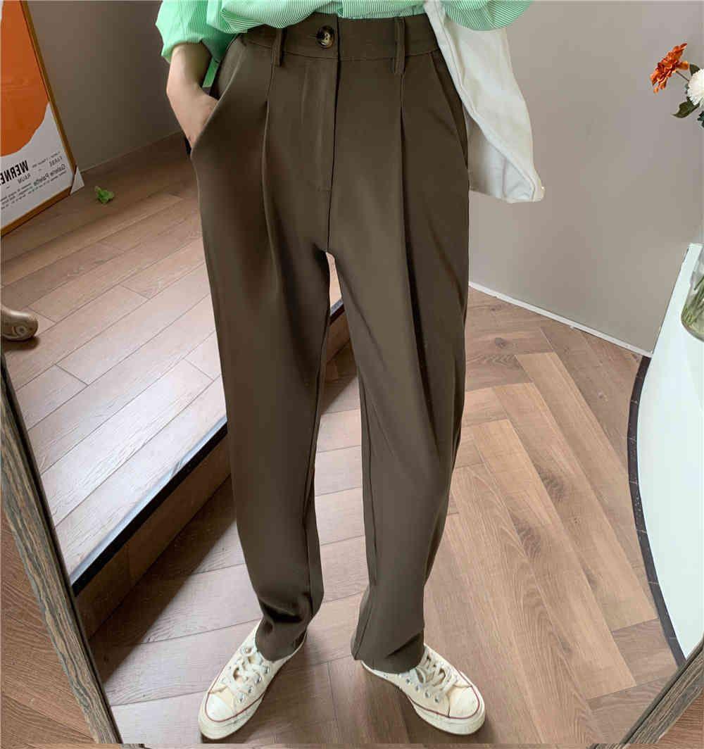 pantalones mujeres traje pantalones primavera oficina señora pantalones largos otoño sólido slim alta cintura moda pantalón hembra 48kk zmyz