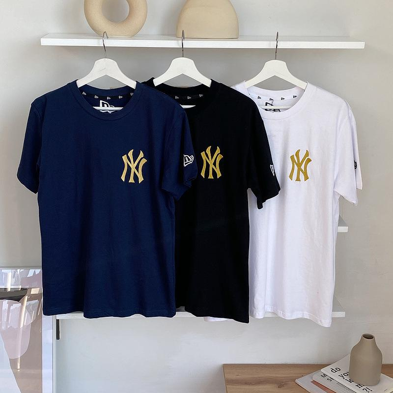 Broderie Gold Luxe Casual Marque NY Yankees Manches courtes pour hommes et femmes
