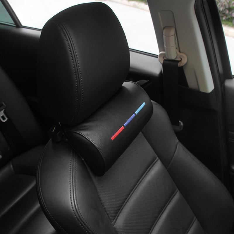 Almofadas de assento 1 PCS Caril Styling Pescoço Proteção PU Auto Cabeça Apoio Apoio Descanso Viajar confortável