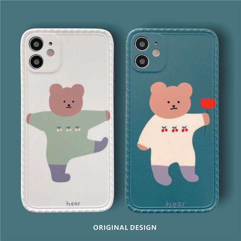 Adequado para Cherry Bear Corean 11 / 12Promax Celular Celular Casos Silicone Protetora Capa de Celular Acessórios