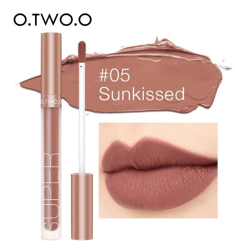 Lip Gloss M`J Pigment pour Matte Velvet Maquillage Waterpoof Longue durable Liquide Liquide Nu Brown rouge couleur rouge femmes 12 couleurs
