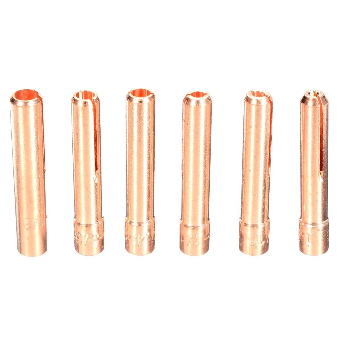 40 قطعة / الوحدة tig لحام كيت الشعلة كوليت عدسة الغاز بيريكس كوب الزجاج الملحقات العملية ل WP-9 / 20/25