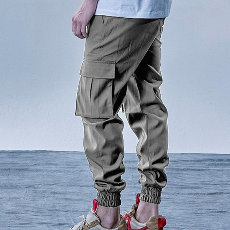 Joggers Sweetpants Hombre Slim Slim Pantalones Color Sólido Pocket Sportswear Otoño Masculino Fitness Pantalones Pantalones