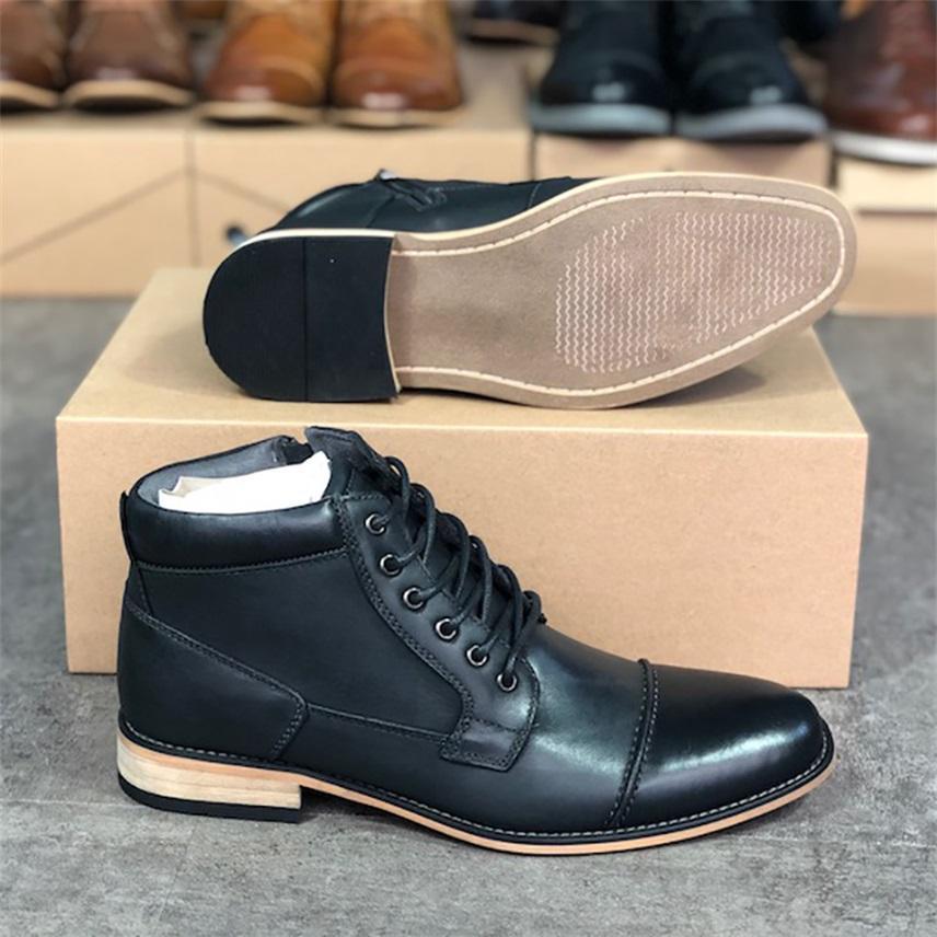 2021 Designer Martin Boots Uomo Scarpe da caviglia Cowboy Western Boot zip on Side Fashion Dress Party Shoe Wedding Shoes with box w91