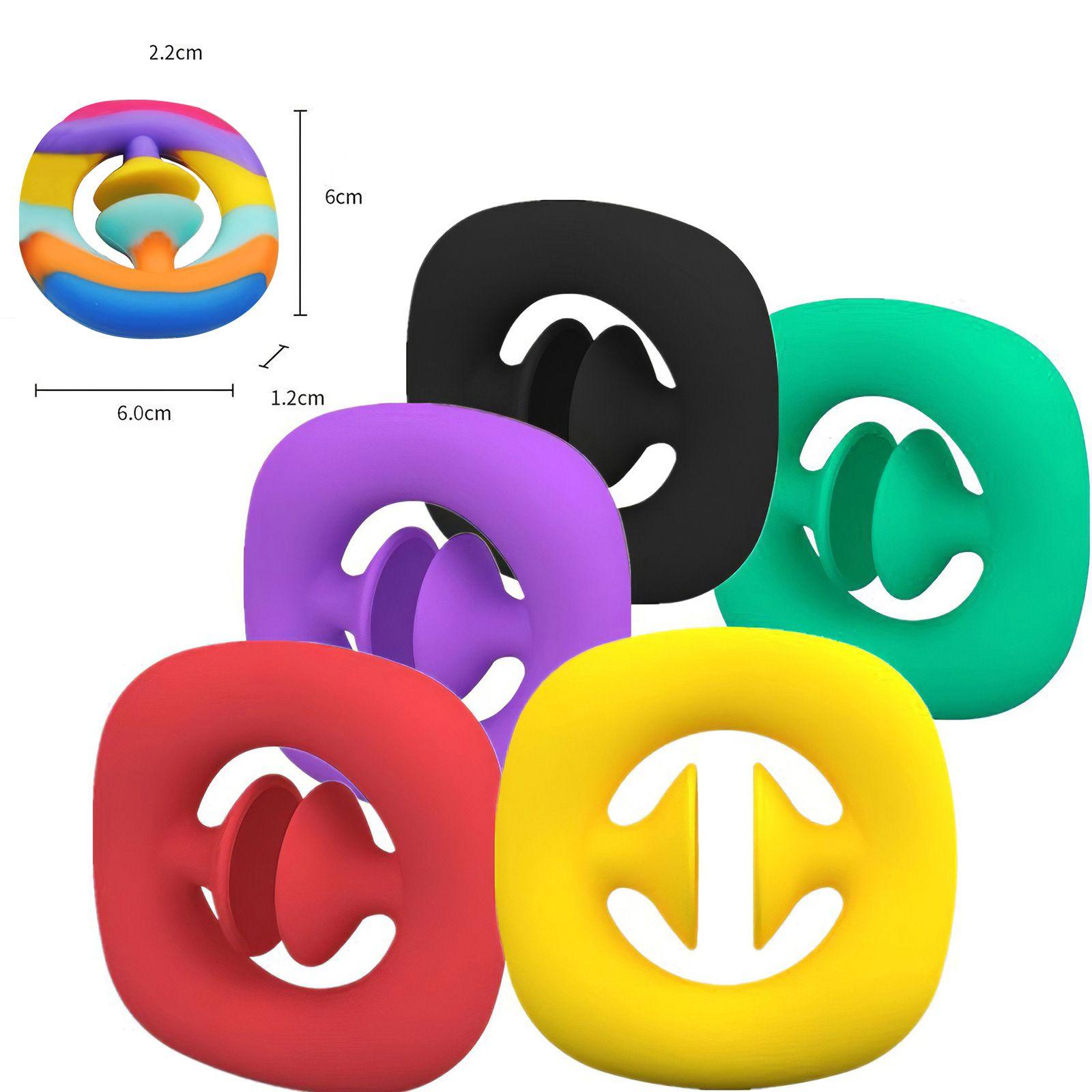 Stock Agarrar Snap Squeeze Toy Fidget Snappers Fuerza de mano Grip Squeey Snap Fidget Toys Toys Sensory Herramienta ADHD Autismo Alivio del estrés