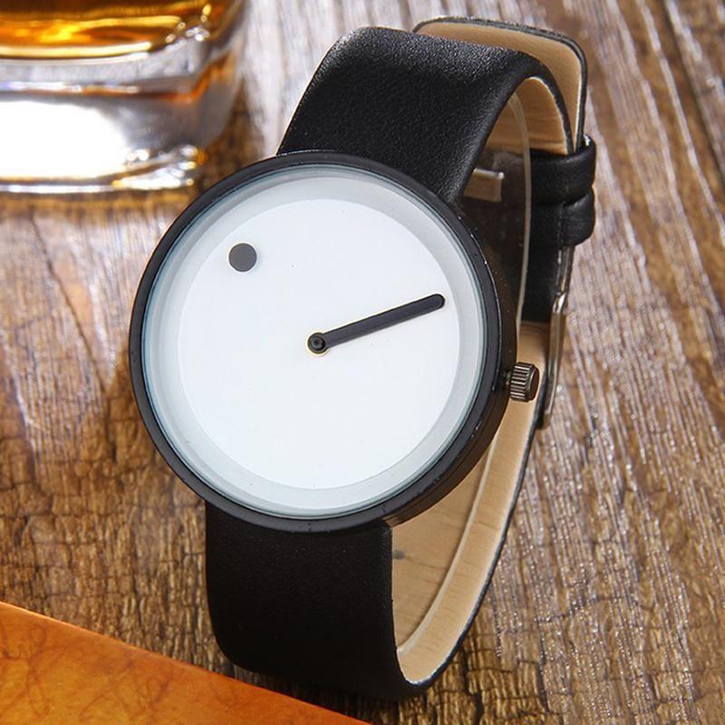 Relógios de pulso relógios criativos homens homens simples e linha elegante quartzo casual reloje hombre