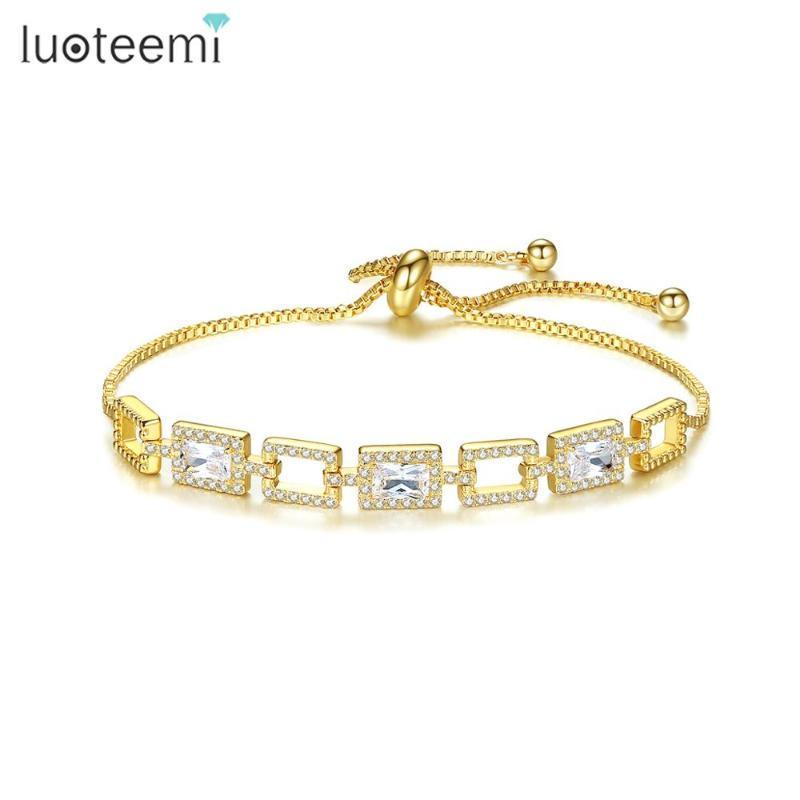Allakalo pulseira ajustável para mulheres homens cubano link bangles zircão cúbico charmoso moda jóias namoro festa de natal picadeira