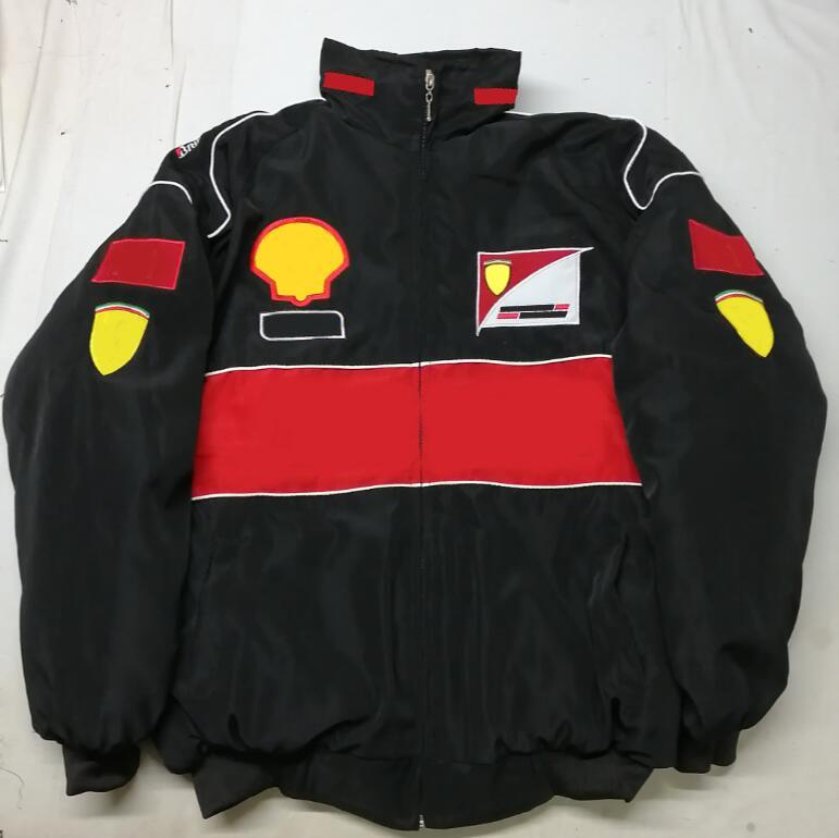 2021 nouveau costume de course F1 complète Logo brodé F1 Team Cotton Veste rembourrée