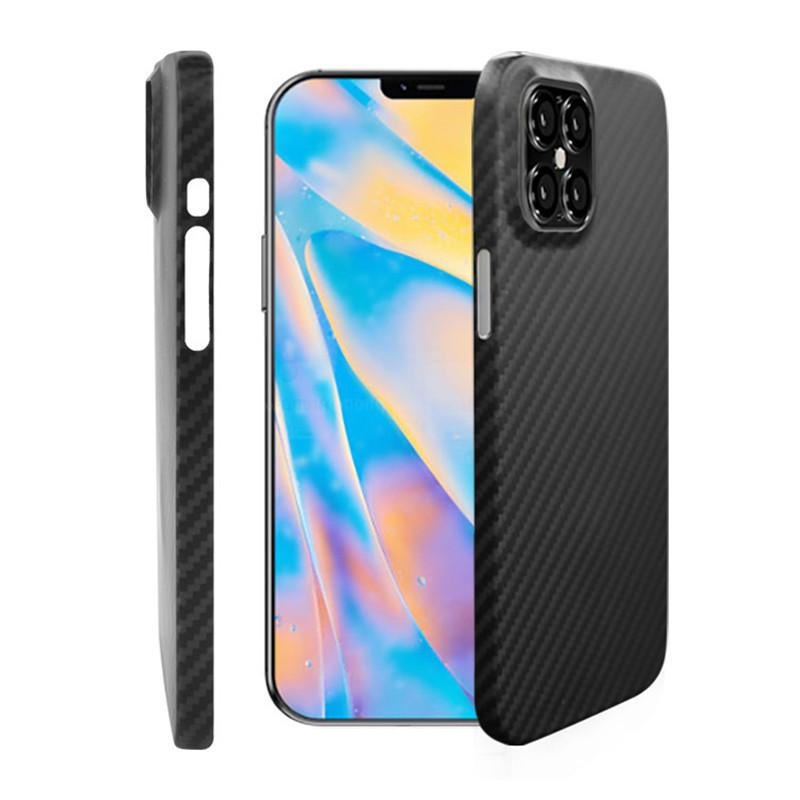 Carbon Fiber Ultra-Thin Mobile Phone Cases Shell For Iphone 12 Mini 11 Pro Max XS XR X Shockproof Anti-Drop Full Cover