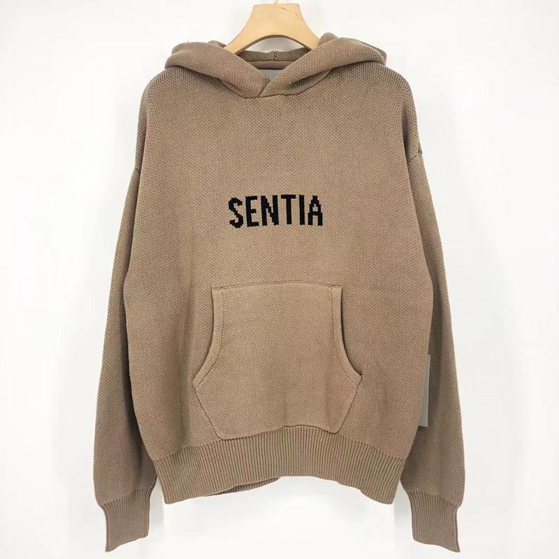 2021 EUA Front Knit Letra Logotipo Com Capuz Camisola Outono Inverno Moda Homens Mulheres Skates Pullover Moletom Com Capuz Perfeito Detalhes