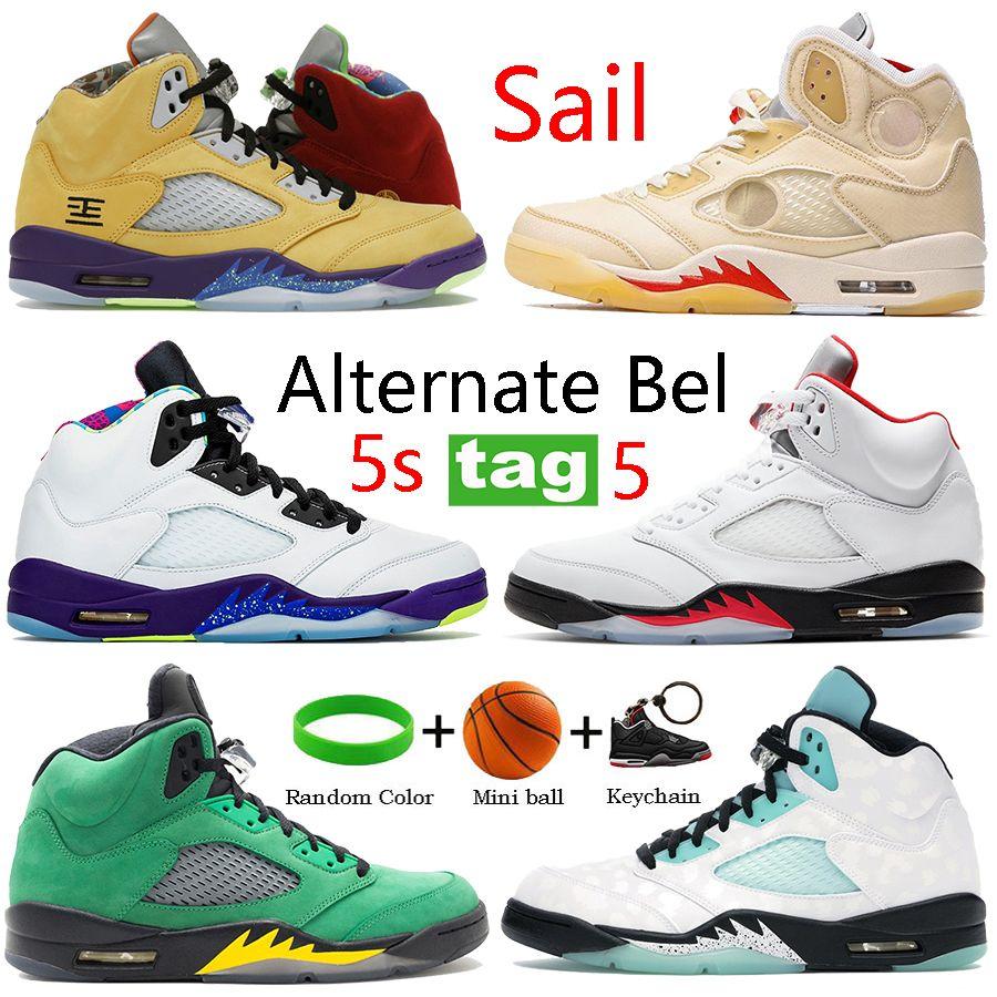 2021 الأبيض x الشراع 5 5 ثانية أحذية كرة السلة ما البديل بيل أوريغون الأسود الشاش النار الأحمر الفضة اللسان الرجال أحذية رياضية تشغيل المدربين