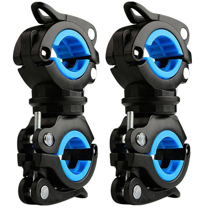 Soporte de la luz de la bicicleta de 360 grados Rotatable Universal Bicycle Soporte de la lámpara de la lámpara de fijación del marco de la fijación.