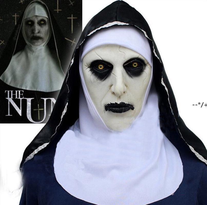 Le masque de cosplay Nun Cosplay Costume Latex Prop Casque Valak Halloween Scary Horror conjure des accessoires de costume de fête des jouets effrayants HHB10399