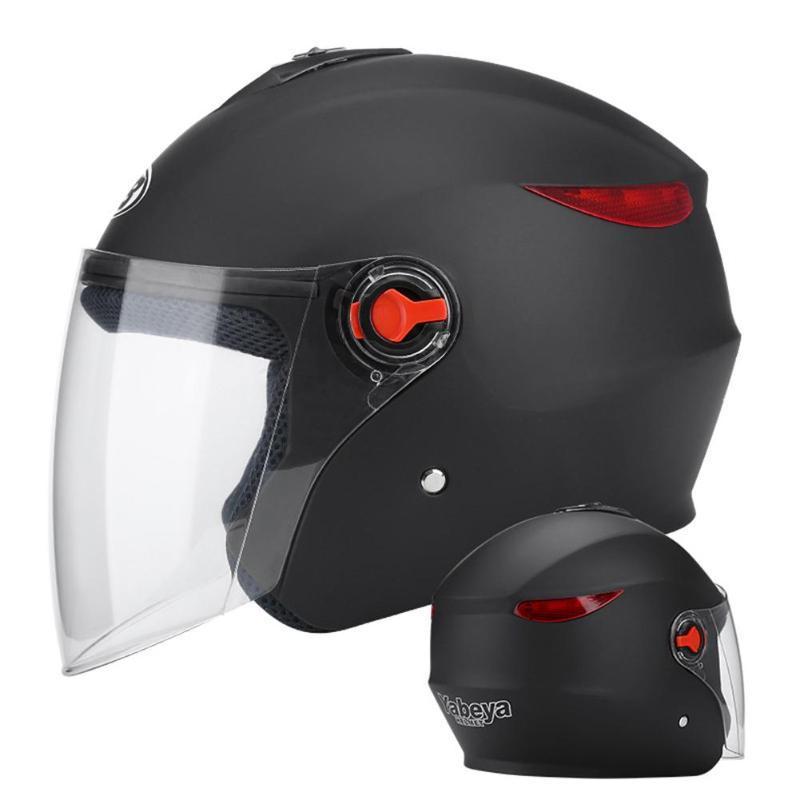 Cascos de motocicleta Casco abierto Casco anti-niebla Todo el año Use una mitad cómoda con visera solar para hombres adultos mujeres