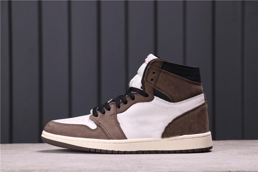 Üst versiyonu Jumpman 1 1S Yüksek OG TS Basketbol Ayakkabıları 2021 Yayın Kaktüs Jack Erkek Sneakers Barb Koyu Kahverengi Yüzgeç Spor Tam Boy 36--47.5