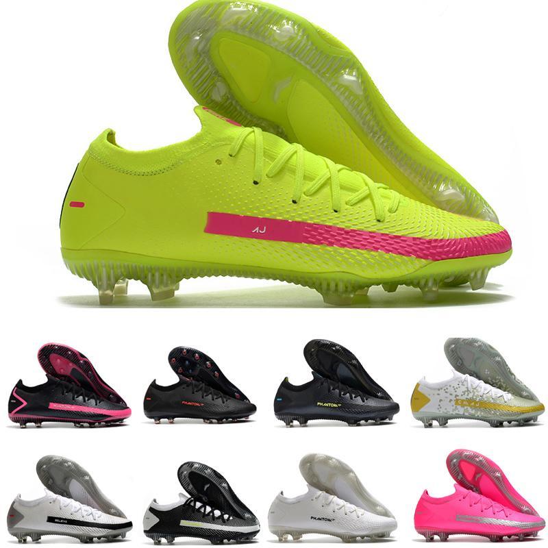 Yeni Renk Phantom GT Elite AG-Pro Erkekler için inanıyorum ayakkabı yeşil siyah futbol çizmeler futbol cleats