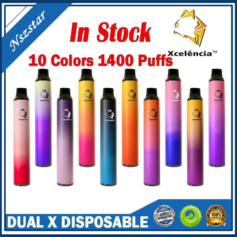 Dual X Jetable 2in1 E-Cigarettes de cigarettes Kit de dispositif 1400 Puffs 900mAh Batterie Prérouvé 6 ml Pod Stick Stick Stick stylo véritable vs bar plus max 2 en 1