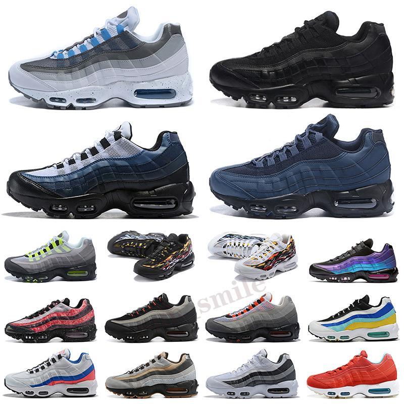 Max 95 scarpe da ginnastica sportive da uomo scarpe da corsa Classic Tripel bianco nero cuscino autentico formatori taglia 5.5-12