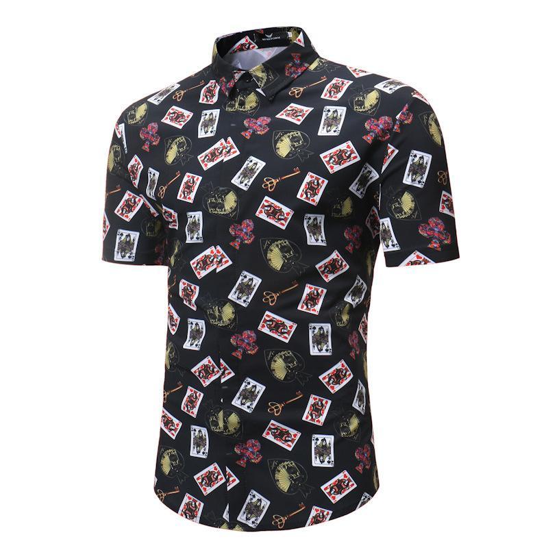 2021 летние новые мужские повседневные с короткими рукавами цветочные рубашки S118