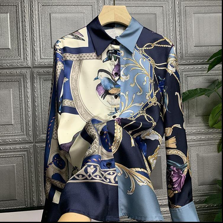 Bayan Bluzlar Tek Anlamı Sokaktan Saplı Snap Beauty 32209 Baskılı Gömlek