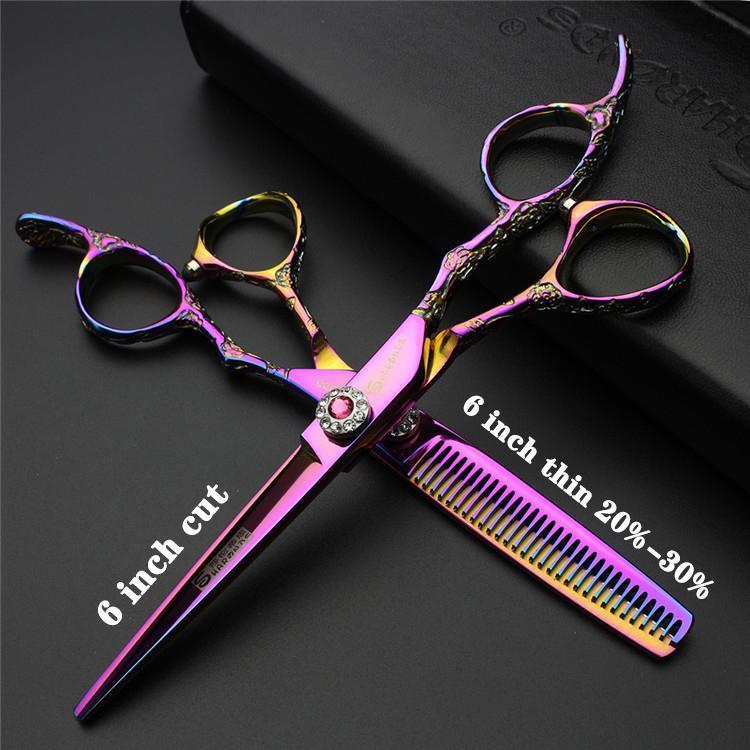 İnç kuaförlük makas güzellik salonları için özel stilist kaymaz aşınmaya dayanıklı ücretsiz özel logo ince saç