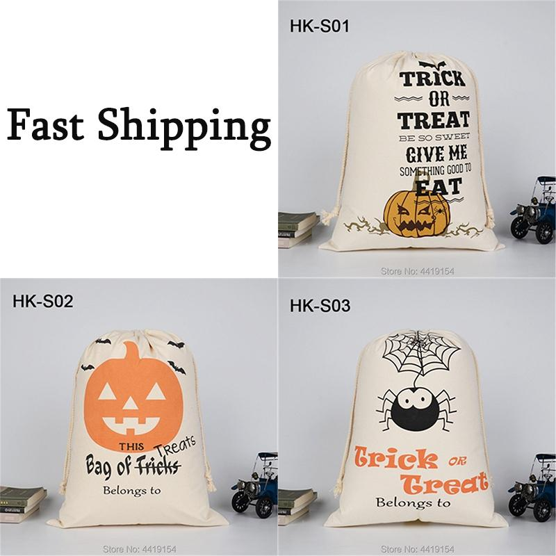 Sacs d'araignées Halloween Bag Partie Candy Candy Sacs fourre-tout Sacs Toile ou Traitement de jouet pour Kid Festival Cadeau