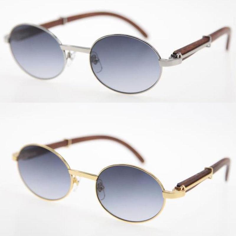 판매 한정판 18K 골드 목조 대형 라운드 선글라스 장식 나무 프레임 고품질 C 장식 UV400 렌즈 태양 안경 남성과 여성 크기 : 55-20-135mm