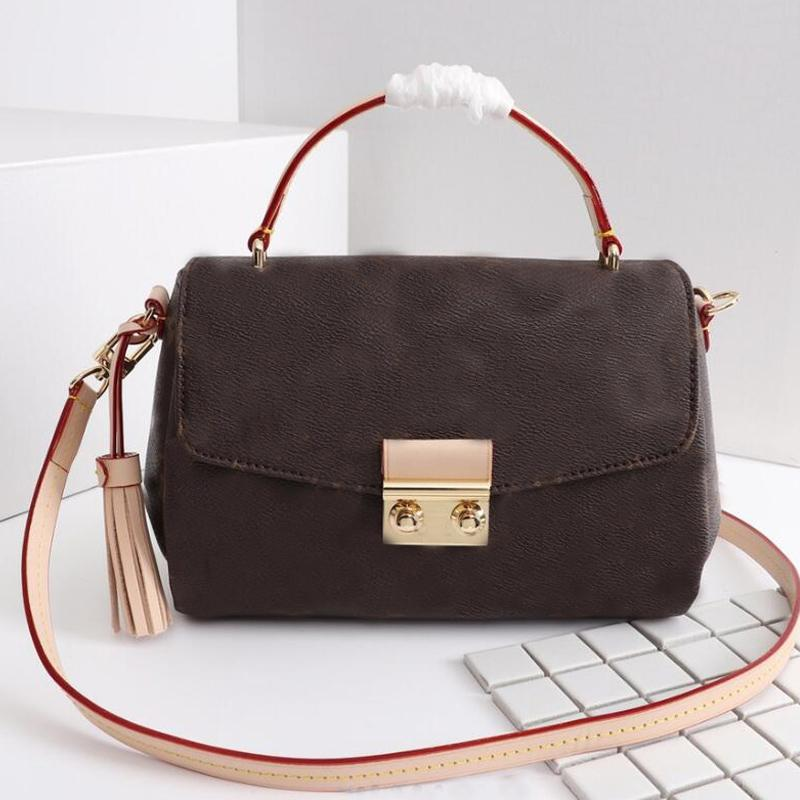 Women Handbag Purse Crossbody Shoulder Bag Fashion Letter Canvas Genuine Leather Flap Messenger Bags Top Handle Handbags Classic Lady Tote Clutch High Quality