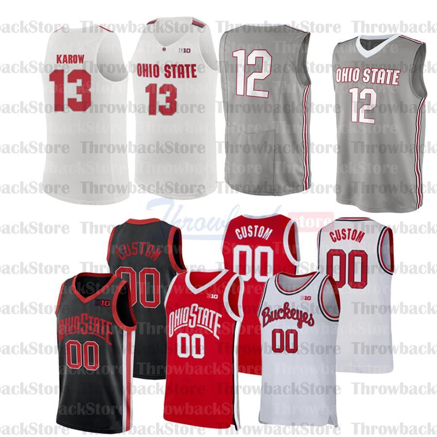 Özel Ohio Eyalet Koleji Basketbol Formaları 1 Luther Muhammed 3 DJ Karton 0 Russell 4 Duanewashingtonjr. 10 Justin Ahrens 13 CJ Walker
