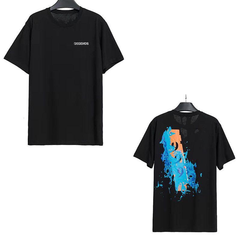 2021 Kadın T Gömlek Bayanlar Kısa Kollu Yüksek Kalite T Gömlek Erkekler Tops Tees Saf Pamuk Mektup Baskı Hip Hop Tarzı Giysileri ile Tago