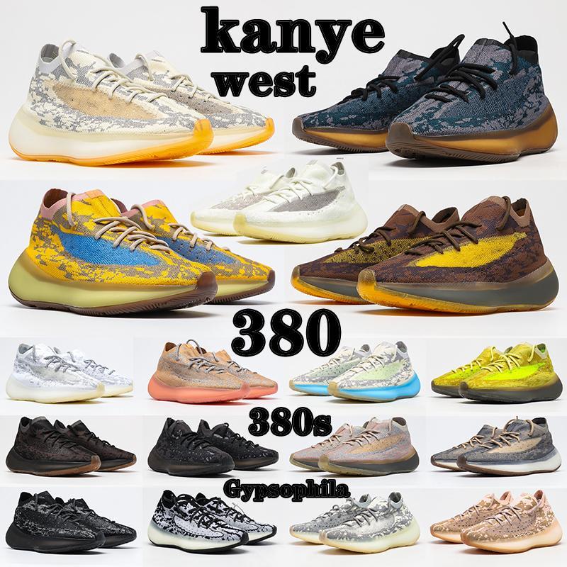 kanye west x yeezy boost 380 shoes Originals Chaussures de course BLUE Pierre Alien Sel Covellite Homme Mans Mode Yecoraite RF Glow Pepper Oat Lmnte Mist Boosts Femme Lady Sneakers
