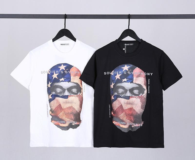 2021 럭셔리 캐주얼 티셔츠 새로운 남성용 착용 디자이너 짧은 소매 티셔츠 여성 남성 코튼 마스크 아바타 사진 인쇄 블랙 화이트 티셔츠