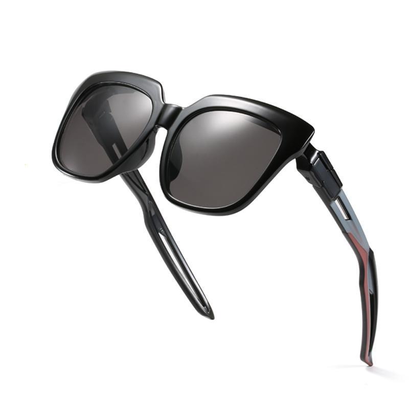 Moda Marka Unisex Retro Kedi Göz Güneş Erkekler Kadınlar Vintage Gözlük Erkek / Kadın UV400 Için Siyah Gri Güneş Gözlükleri