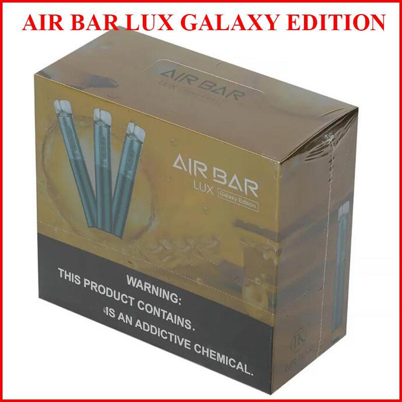 에어 바 럭시 갤럭시 에디션 일회용 vape 전자 담배 20 색 2.7ml 포드 배터리 용량 550mAh e-vapes e cig vs puffbars