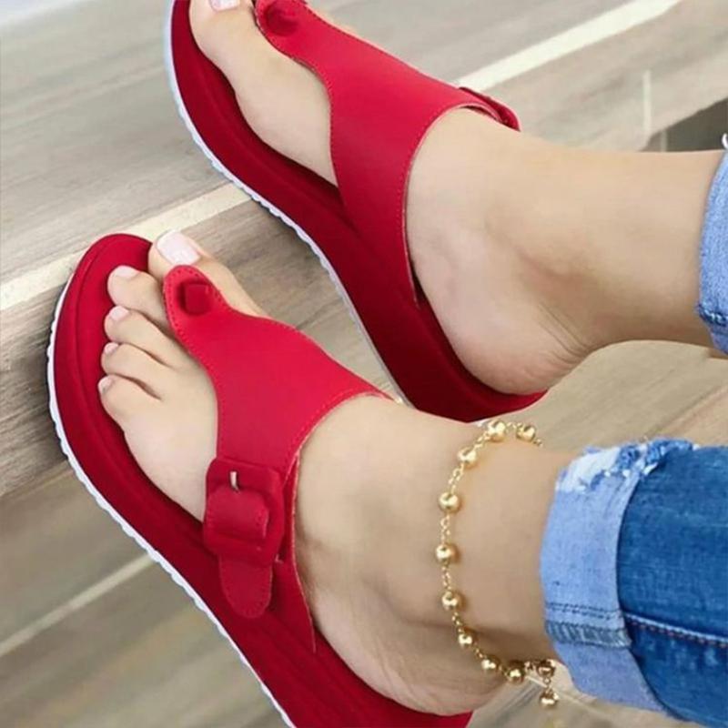 Takozlar Kadınlar için Sandalet Yaz Su Ayakkabı Rahat Silahpers Bayanlar Açık Plaj Sandal Yürüyüş Kadın Ayakkabı Flip Flop Terlikler