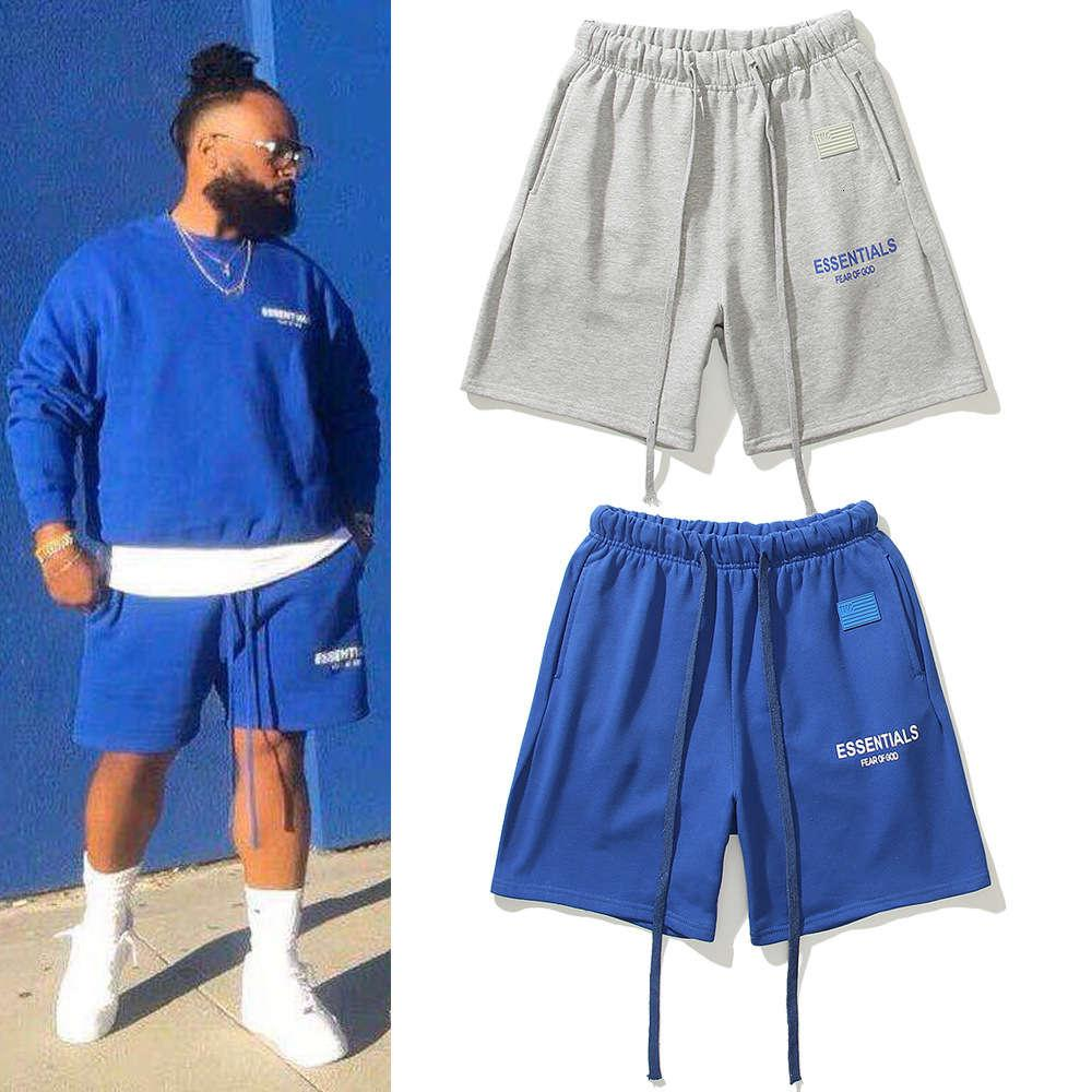Summer Beach Fog Capris Los Angeles La Limited TMC Charity Charity Casual Terry Shorts Doppio Pantaloni elementari